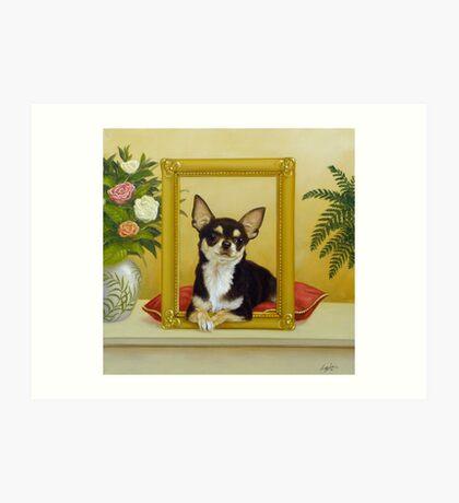 Chihuahua V - Mona Lisa Art Print