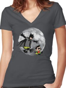 Let's be heroes Women's Fitted V-Neck T-Shirt