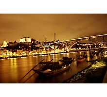 Porto - bridge at night, tilt-shift Photographic Print