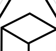 Delta Cubes - Greendale Fraternity Shirt Sticker