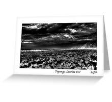 Topanga Sunrise BW Greeting Card