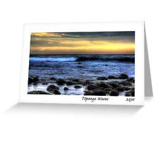 Topanga Waves Greeting Card