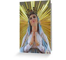 Madonna di Lourdes Greeting Card