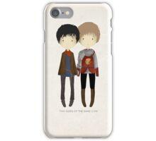 Cute Merlin and Arthur / MERTHUR iPhone Case/Skin