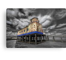 Lifeboat Station Colourised Metal Print