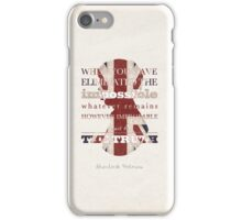 Sherlock Holmes quote iPhone Case/Skin