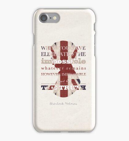 Sherlock Holmes quote iPhone Case/Skin