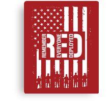 R.E.D. (Remember Everyone Deployed) Canvas Print