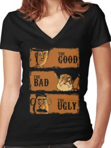 The Good The Bad the potato Women's Fitted V-Neck T-Shirt