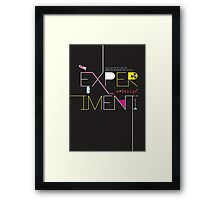 Experiment with design. Framed Print