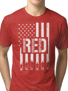 R.E.D. (Remember Everyone Deployed) Tri-blend T-Shirt