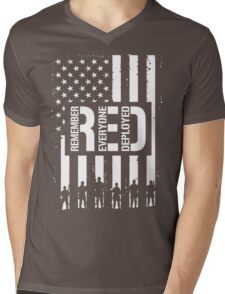R.E.D. (Remember Everyone Deployed) Mens V-Neck T-Shirt