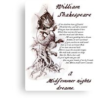 Puck, A Midsummer Night's Dream, William Shakespeare Canvas Print