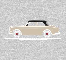 Volvo Amazon White Eerkes Mom and Dad's Car One Piece - Long Sleeve