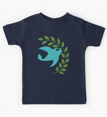 Bluebird with Green Garland  Kids Clothes