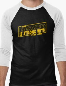 The Beard Is Strong With This One Men's Baseball ¾ T-Shirt