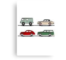 Volvo Lineup Canvas Print