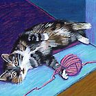 Cat and Yarn by SandraWidner