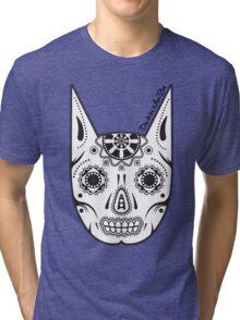 Dia de los ManBat - Hero sugar skull Tri-blend T-Shirt