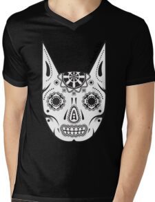 Dia de los ManBat - Hero sugar skull Mens V-Neck T-Shirt