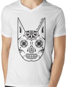 Dia de los ManBat - Hero sugar skull Mens V-Neck T-Shirt