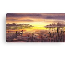 Peaceful Sunset At The Lake Canvas Print