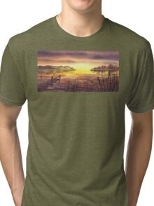 Peaceful Sunset At The Lake Tri-blend T-Shirt
