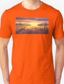Peaceful Sunset At The Lake T-Shirt
