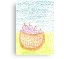 Plum Picnic Canvas Print