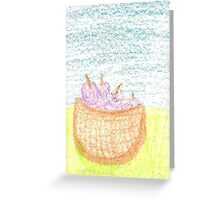 Plum Picnic Greeting Card
