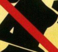 No Tits touching Sign Sticker