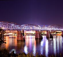 Purple People Bridge, Cincinnati, Ohio by Christa Binder
