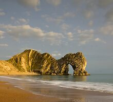 Durdle Door at Sunset, Dorset by Lugburtz