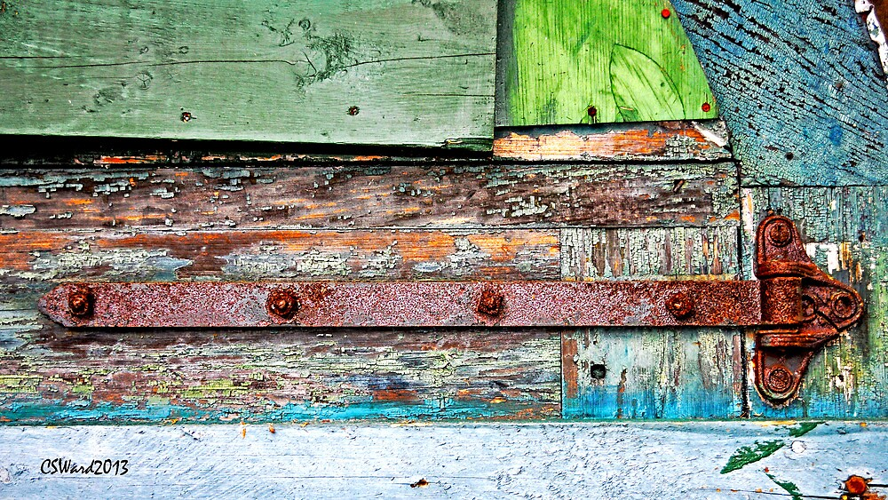 Rusted Hinge on Color by Caleb Ward
