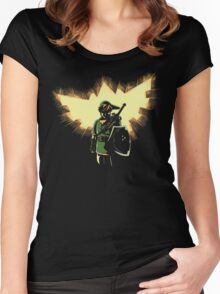 The Legend Rises Women's Fitted Scoop T-Shirt