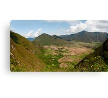 Pululahua Crater in Ecuador Canvas Print