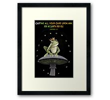 。◕‿◕。 FROG PICTURE WITH  BIBLICAL TEXT。◕‿◕。  Framed Print