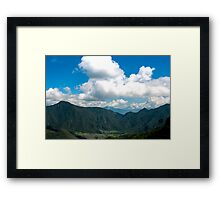 Pululahua Crater in Ecuador 3 Framed Print