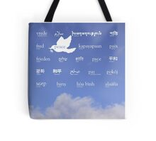 Peace in many languages Tote Bag