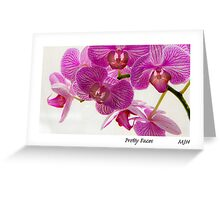 Pretty Faces Greeting Card