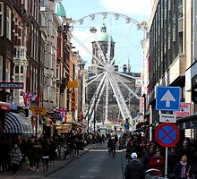 Amsterdam - The Dam Square in the Distance by rsangsterkelly