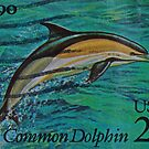 1990 Dolphin Stamp Macro Photograph by DrBillCreations