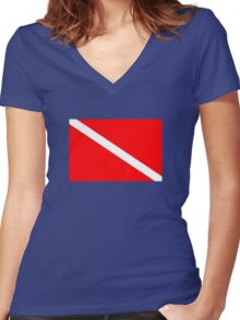 Dive! Women's Fitted V-Neck T-Shirt