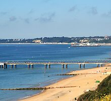 Boscombe and Bournemouth piers by Chris Day
