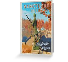Sanctuary Hills Welcome home | Fallout inspired Vintage look Greeting Card