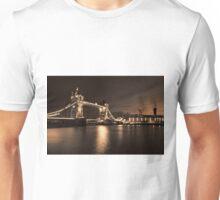 Tower Bridge black and white Toned Unisex T-Shirt