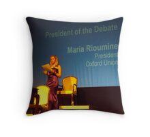 Oxford Union Debate President Throw Pillow