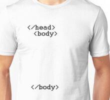 HTML - head & body Unisex T-Shirt
