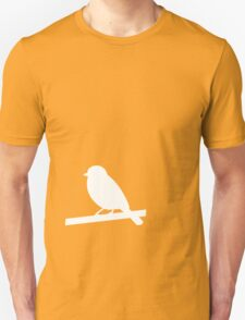 A white silhouetted bird T-Shirt
