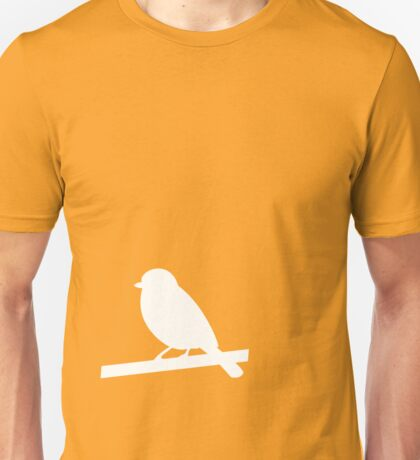 A white silhouetted bird Unisex T-Shirt
